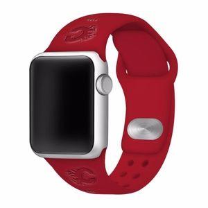 Calgary Flames Apple Compatible Watchband